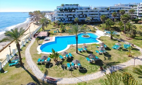 Beachfront contemporary apartment for sale, Golden Mile, Marbella