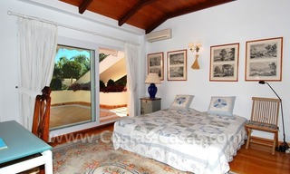 Frontline golf villa for sale in Marbella, walking distance to beach 22