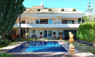 Frontline golf villa for sale in Marbella, walking distance to beach 8