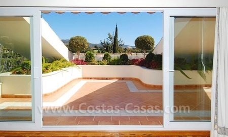 Frontline golf villa for sale in Marbella, walking distance to beach 26
