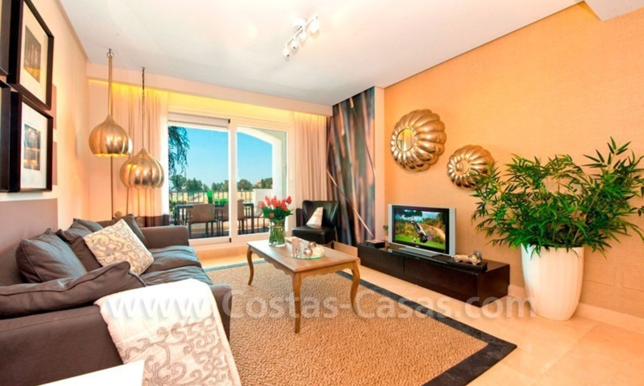 Ready to move in Bargain golf apartments and penthouses for sale in Marbella - Benahavis with golf and sea views 5