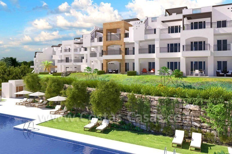 Ready to move in Bargain golf apartments and penthouses for sale in Marbella - Benahavis with golf and sea views