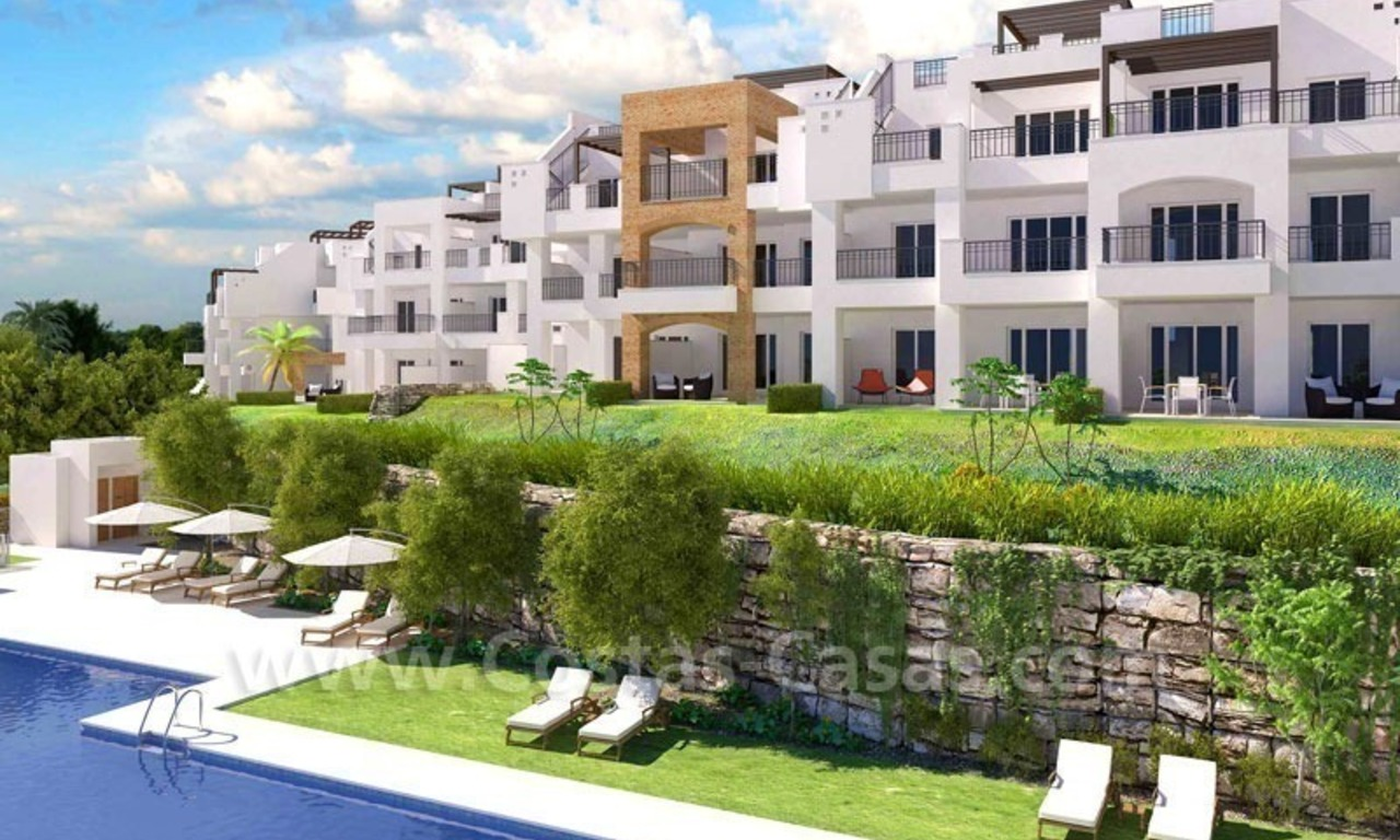 Ready to move in Bargain golf apartments and penthouses for sale in Marbella - Benahavis with golf and sea views 0