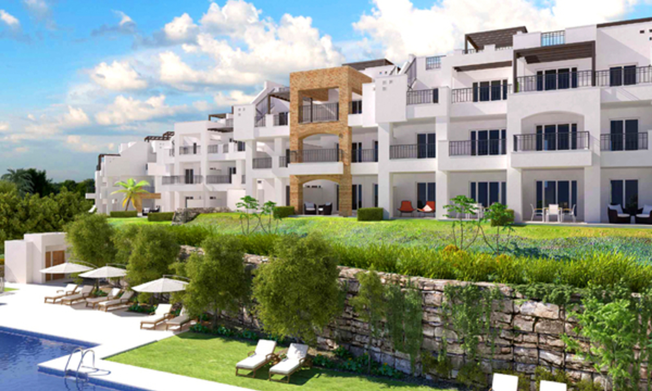 Ready to move in Bargain golf apartments and penthouses for sale in Marbella - Benahavis with golf and sea views 13