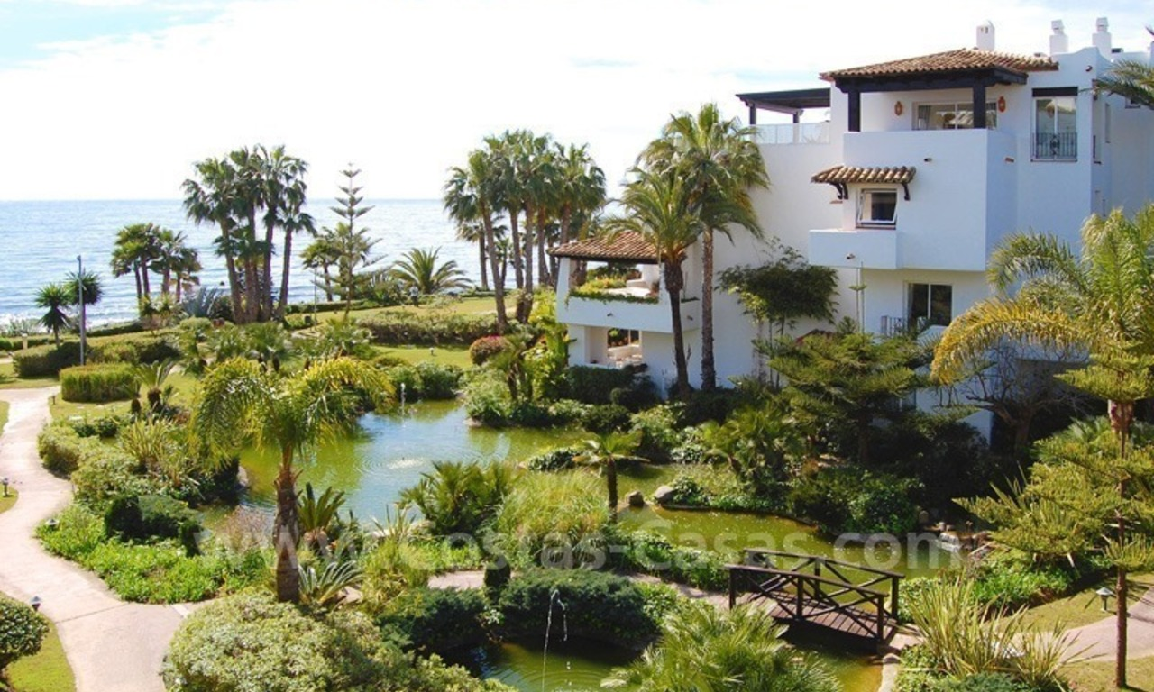 Spacious luxury apartment for sale on the beachfront complex in Puente Romano, Golden Mile – Marbella 1