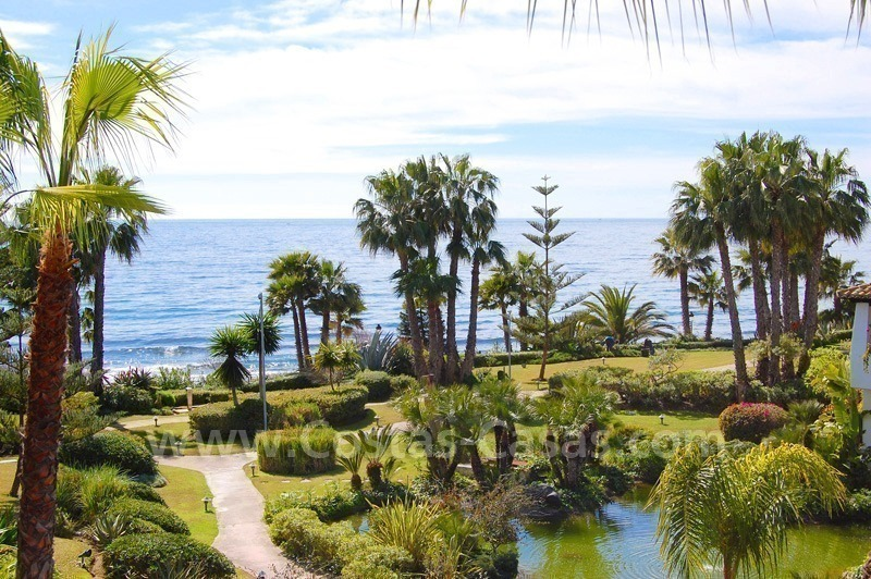 Spacious luxury apartment for sale on the beachfront complex in Puente Romano, Golden Mile – Marbella