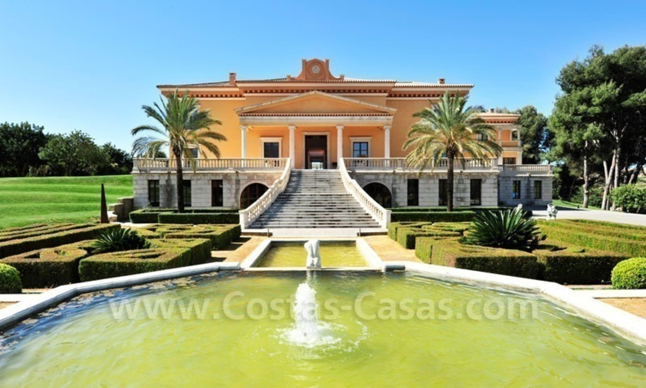 Unique Palladian style mansion for sale in Marbella 0