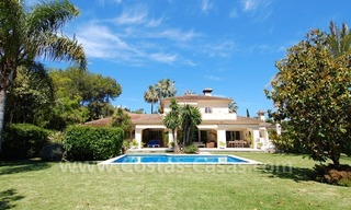 Charming andalusian styled villa for sale on first line golf in Nueva Andalucía, Marbella 0