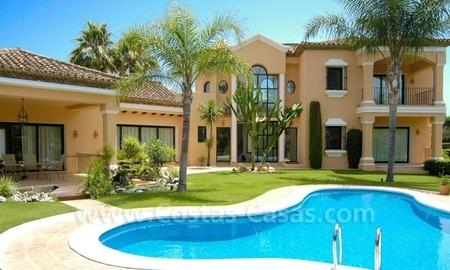 Unique front line golf andalusian styled villa to buy in Nueva Andalucía, Marbella