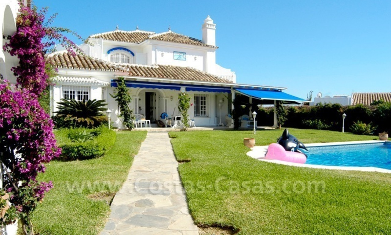 Marbella Beachside Spanish Villa For Sale Near Close To Beach