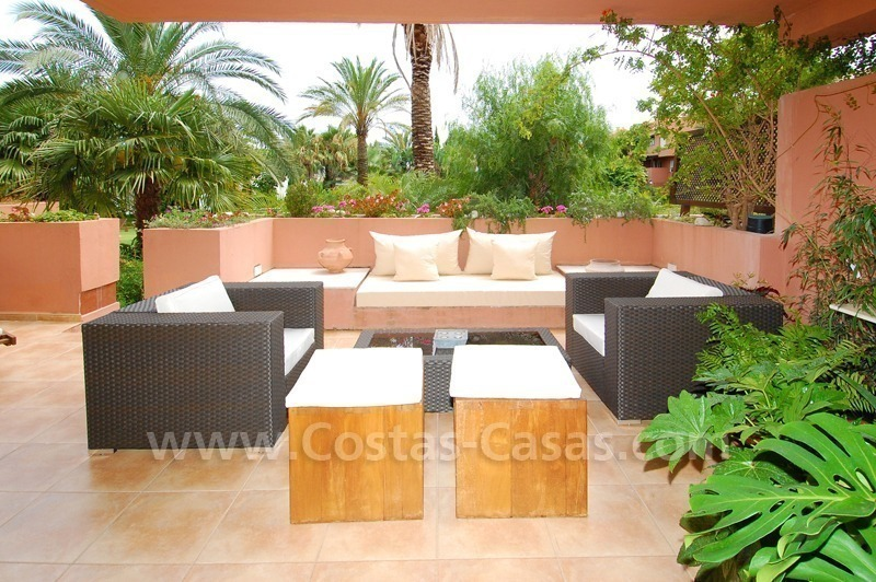 Spacious beachside luxury apartment for sale in Nueva Andalucía very near to Puerto Banús in Marbella 1