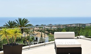 Contemporary style luxury houses for sale on the Golden Mile in Marbella 0