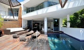 Contemporary style luxury houses for sale on the Golden Mile in Marbella 4