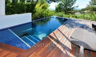 Contemporary style luxury houses for sale on the Golden Mile in Marbella 5