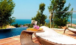 Contemporary style luxury houses for sale on the Golden Mile in Marbella 7