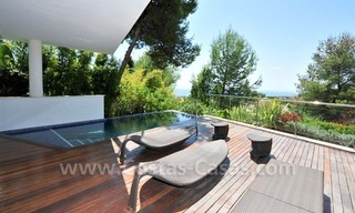 Contemporary style luxury houses for sale on the Golden Mile in Marbella 6