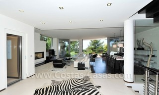 Contemporary style luxury houses for sale on the Golden Mile in Marbella 8