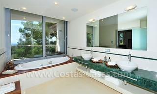 Contemporary style luxury houses for sale on the Golden Mile in Marbella 24