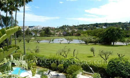 Exclusive front line golf Bali styled villa for sale in Nueva Andalucía, Marbella 3