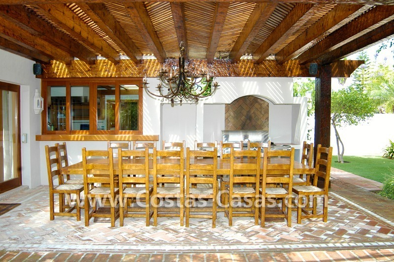 Exclusive front line golf Bali styled villa for sale in Nueva Andalucía, Marbella 7