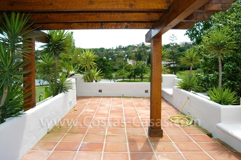 Exclusive front line golf Bali styled villa for sale in Nueva Andalucía, Marbella 8