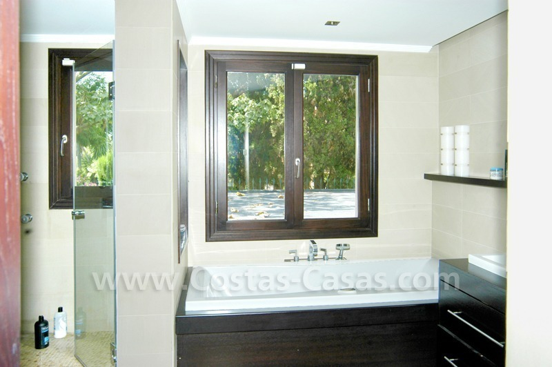 Exclusive front line golf Bali styled villa for sale in Nueva Andalucía, Marbella 28