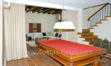 Exclusive front line golf Bali styled villa for sale in Nueva Andalucía, Marbella 24