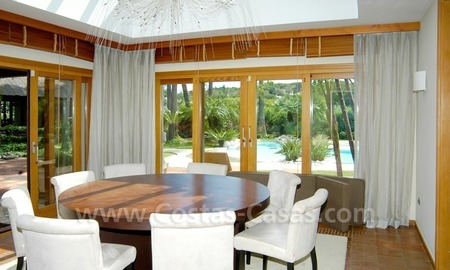 Exclusive front line golf Bali styled villa for sale in Nueva Andalucía, Marbella 21