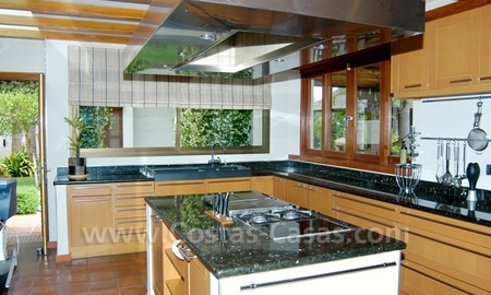 Exclusive front line golf Bali styled villa for sale in Nueva Andalucía, Marbella 23