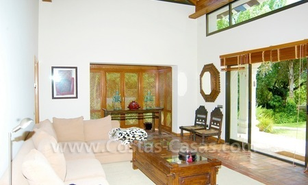 Exclusive front line golf Bali styled villa for sale in Nueva Andalucía, Marbella 20