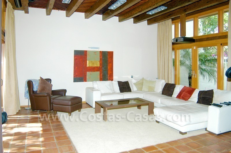 Exclusive front line golf Bali styled villa for sale in Nueva Andalucía, Marbella 17
