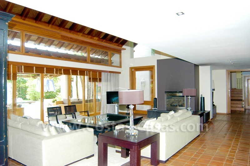 Exclusive front line golf Bali styled villa for sale in Nueva Andalucía, Marbella 16