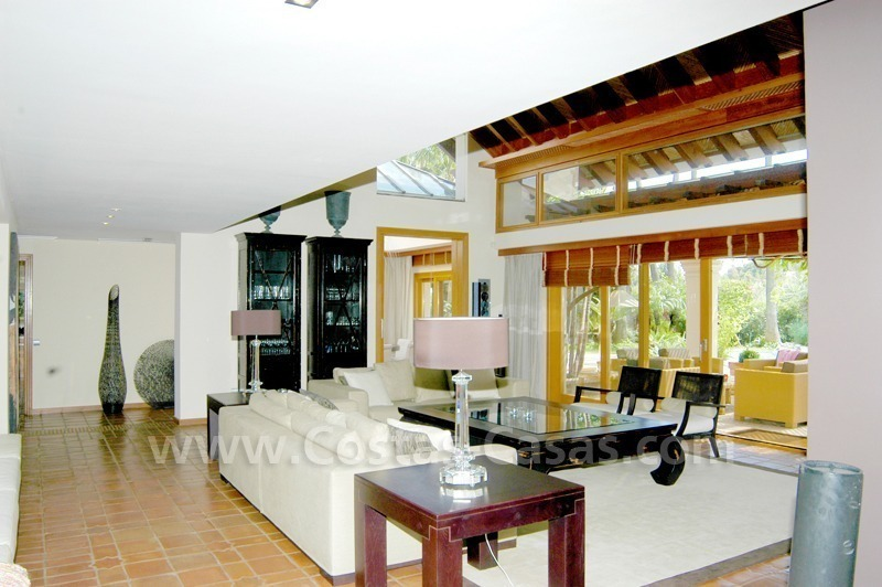 Exclusive front line golf Bali styled villa for sale in Nueva Andalucía, Marbella 15