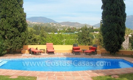 Rustic styled villa with paddock and stables for sale in Marbella at the Costa del Sol 12