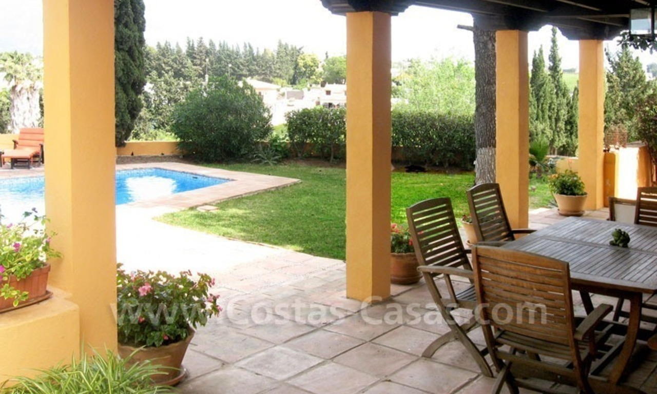 Rustic styled villa with paddock and stables for sale in Marbella at the Costa del Sol 13