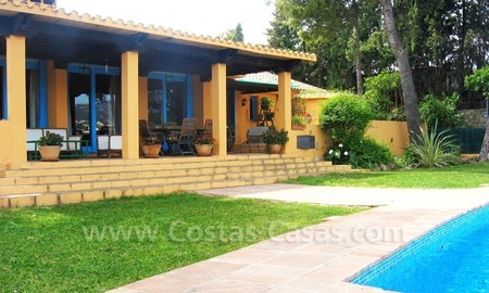 Rustic styled villa with paddock and stables for sale in Marbella at the Costa del Sol 15