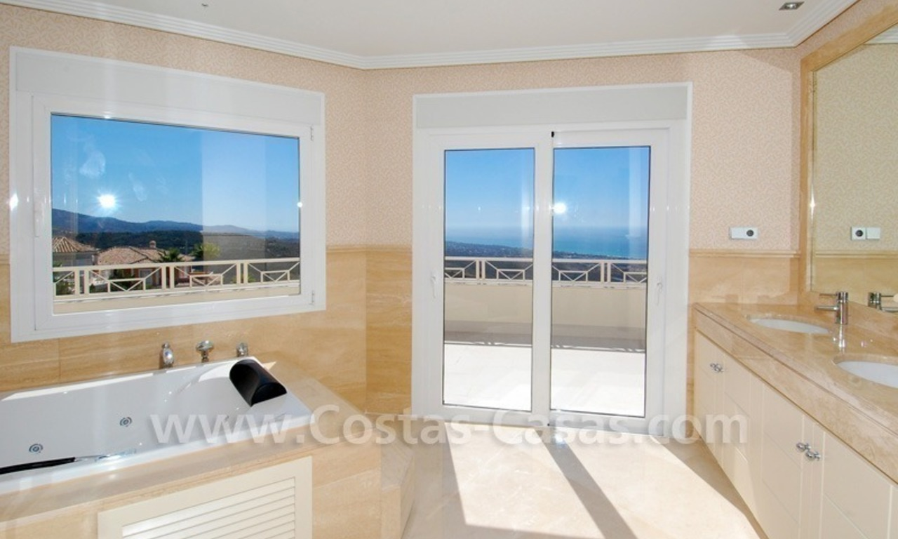 Modern Andalusian style newly built villa to buy in Marbella 19