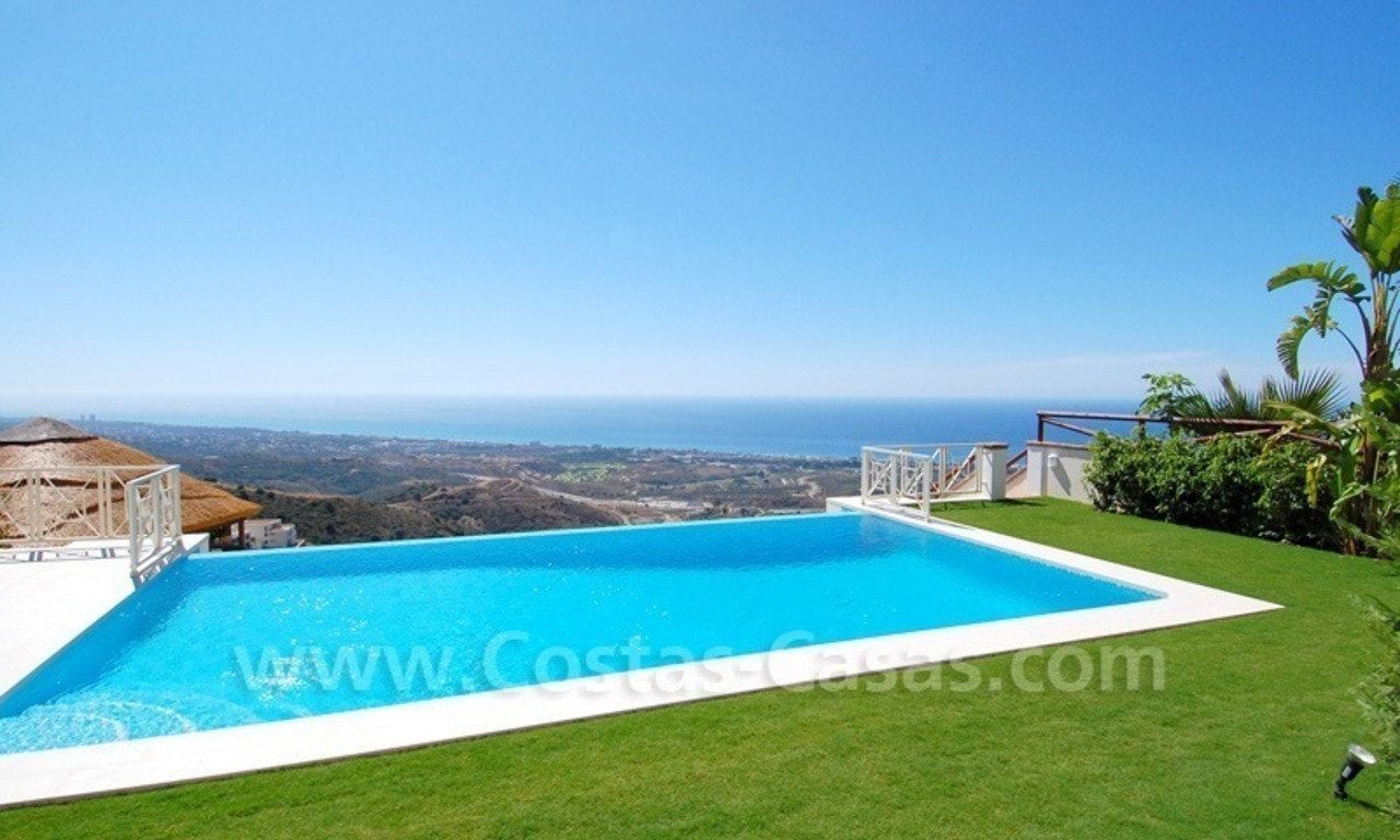 Modern Andalusian style newly built villa to buy in Marbella 0