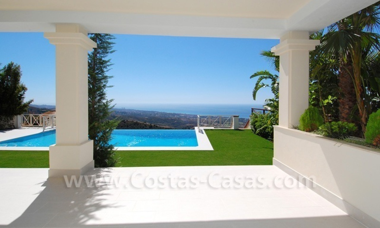 Modern Andalusian style newly built villa to buy in Marbella 1