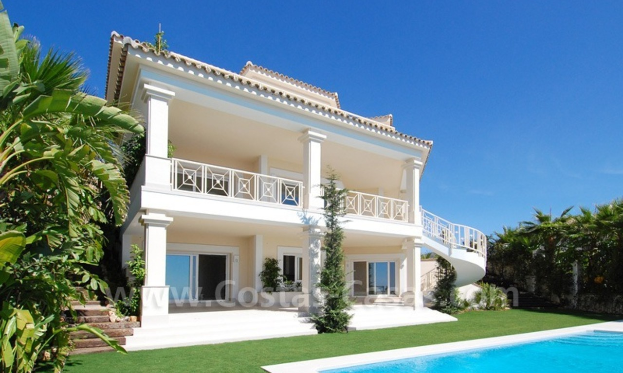 Modern Andalusian style newly built villa to buy in Marbella 5