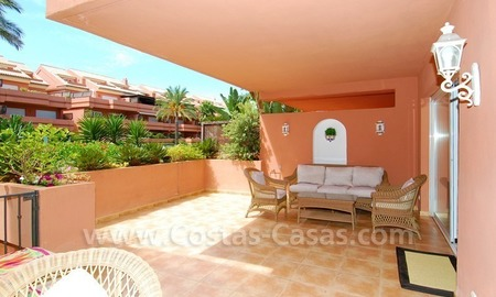 Spacious luxury ground floor apartment for sale in Nueva Andalucía very near to Puerto Banús in Marbella 1