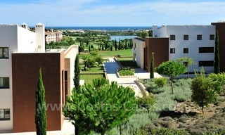 Contemporary frontline golf apartments for sale - Marbella - Benahavis 1