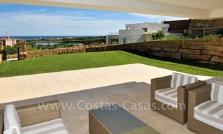 Contemporary frontline golf apartments for sale - Marbella - Benahavis 7
