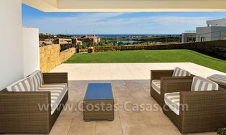 Contemporary frontline golf apartment for sale - Marbella - Benahavis 1