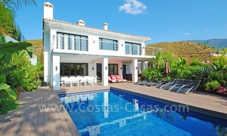 Exclusive contemporary villa to buy in the area of Marbella - Benahavis