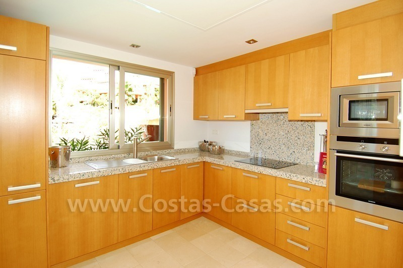 Exclusive modern andalusian styled townhouses for sale close to East Marbella at the Costa del Sol 17