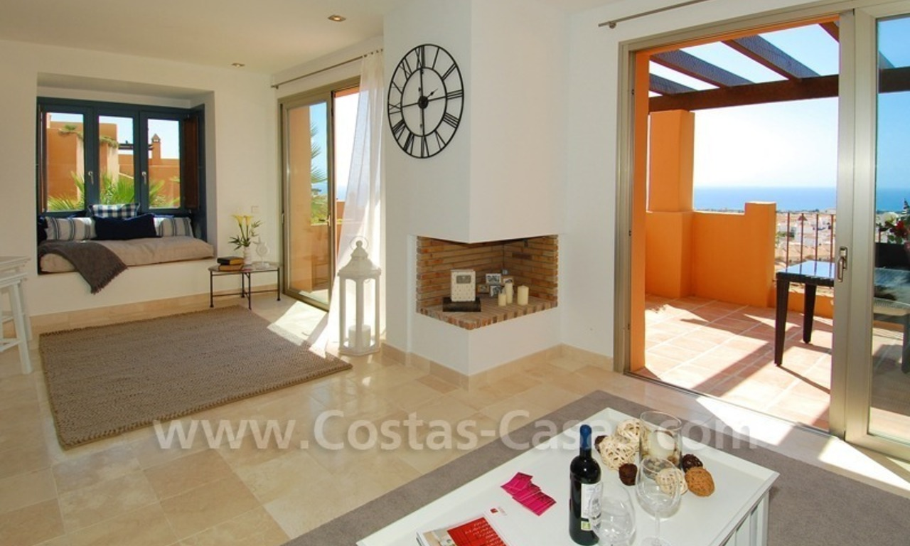 Exclusive modern andalusian styled townhouses for sale close to East Marbella at the Costa del Sol 11