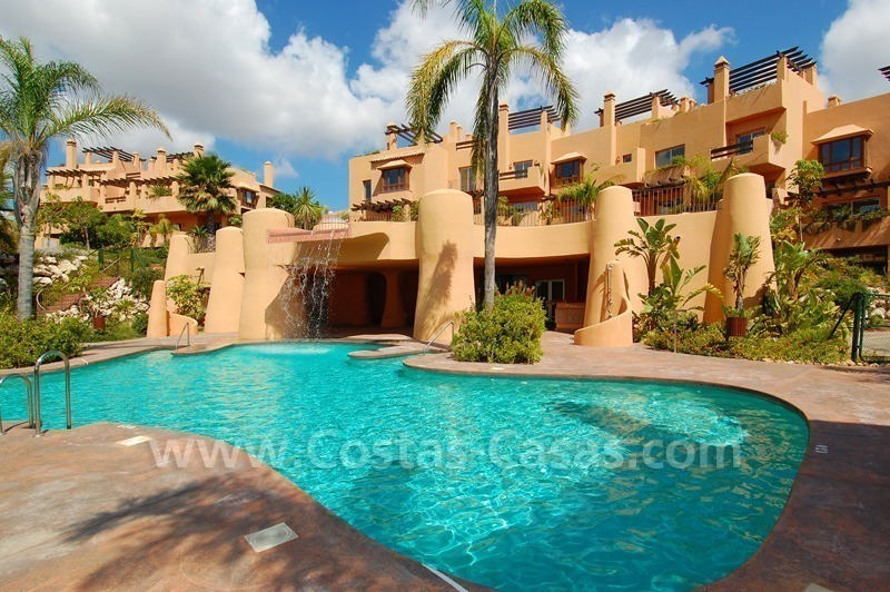 Exclusive modern andalusian styled townhouses for sale close to East Marbella at the Costa del Sol