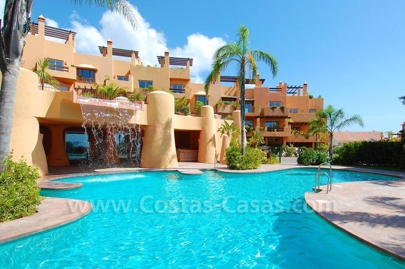 Exclusive modern andalusian styled townhouses for sale close to East Marbella at the Costa del Sol 1