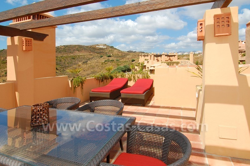 Exclusive modern andalusian styled townhouses for sale close to East Marbella at the Costa del Sol 2